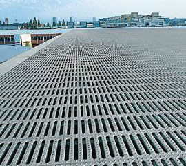 Interlock safety grating used for rooftop
