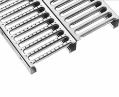2 sheet interlock safety gratings: one is smooth surface with FM, another is traction surface with MM type