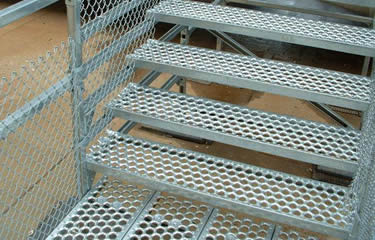 Perforated O Safety Grating Stairs Treads With Nosing