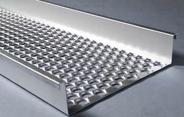 One galvanized perforated-o safety grating walkway