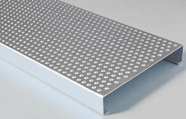 One sheet galvanized traction tread safety grating plank